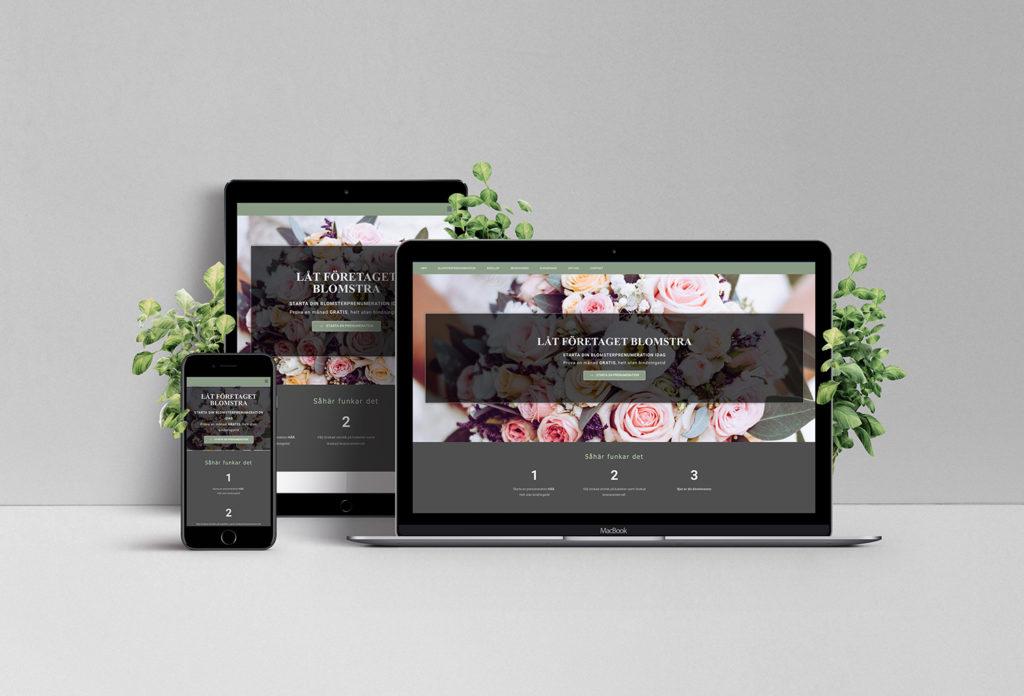 Blomster hemsida