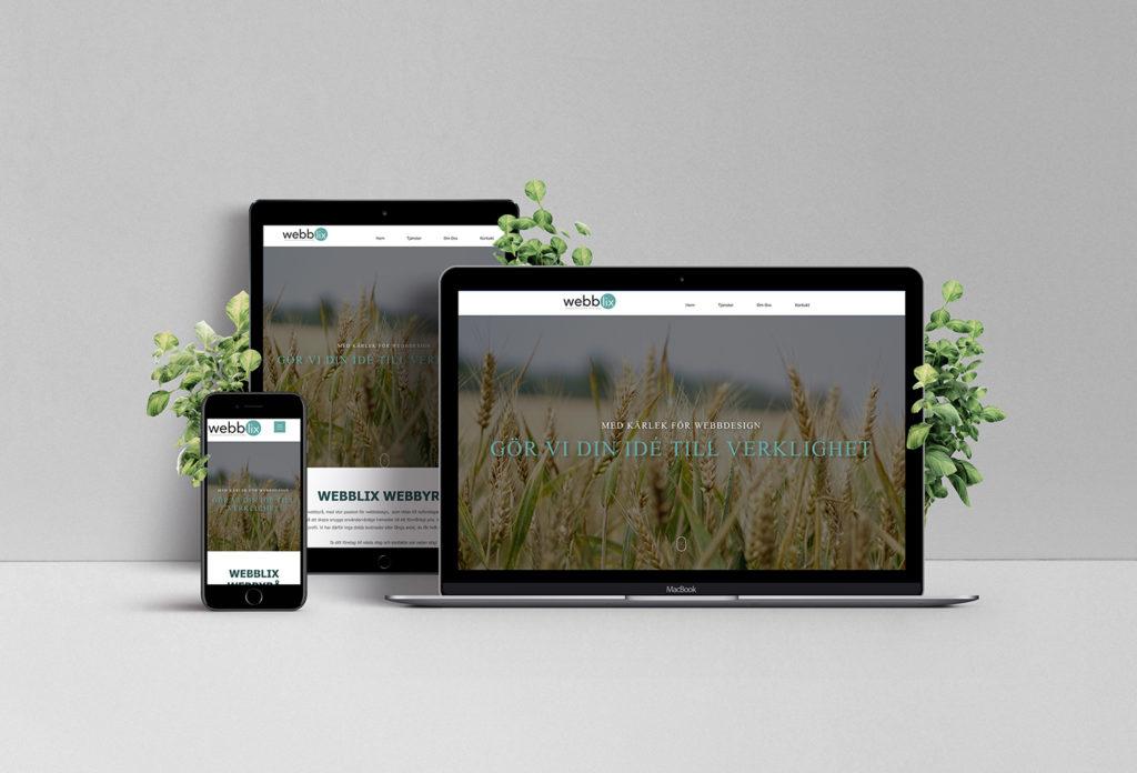 Webblix hemsida