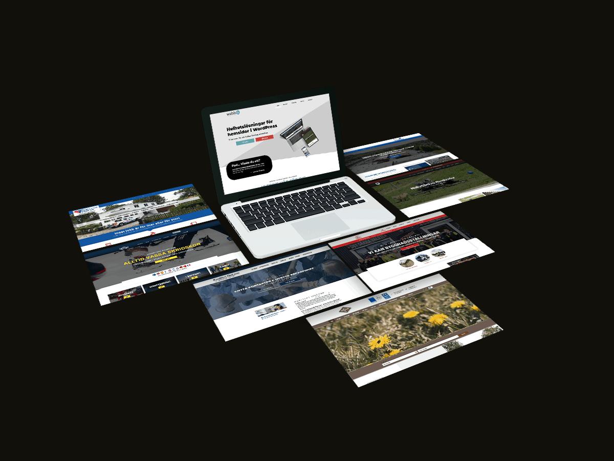 grafisk hemsidor marknadsföring webbshop